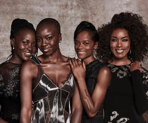 black panther, danai gurira, and letitia wright image