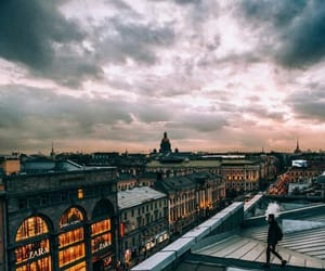 city, lovely, and clouds image