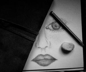 art, pencil, and bw image