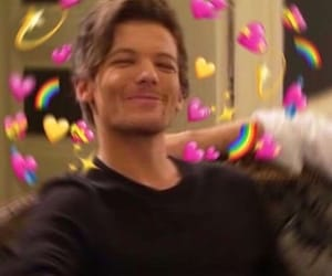louis tomlinson and heart meme image