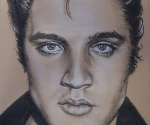 art, drawing, and elvis image