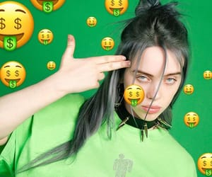 green, billie eilish, and aesthetic image