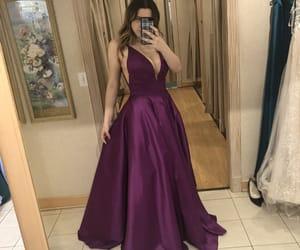 dress, dresses, and purple image