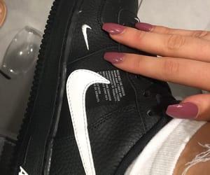 black and white, nails, and stylish image
