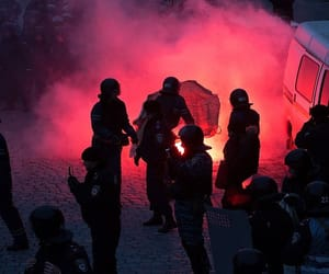 kiev, protest, and ukraine image