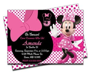 etsy, minie mouse, and invites image