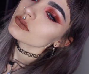 choker, earring, and hair image
