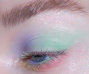eyeshadow, makeup, and rainbow image