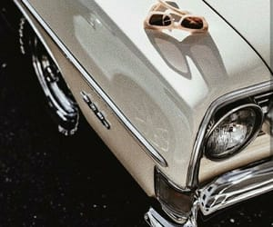 car, vintage, and sunglasses image