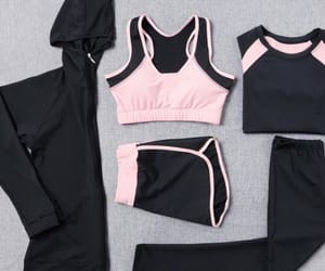 black, sport, and clothes image