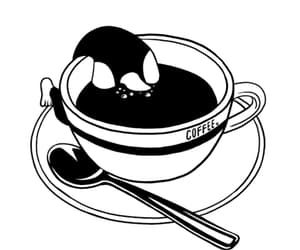 coffee, spoon, and coffee cup image