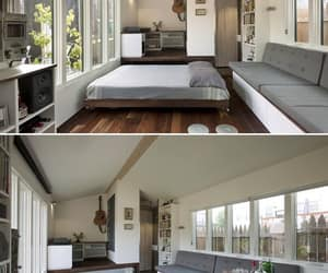 bed and tiny house image