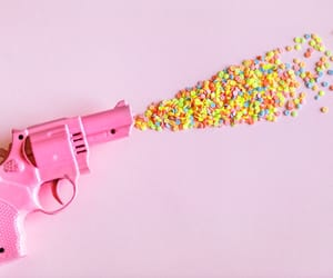 colorful, confetti, and pink image