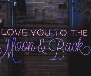 love, light, and moon image