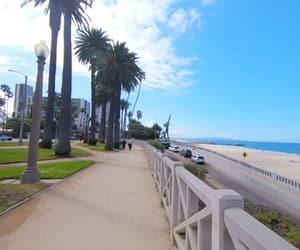 beach, california, and santa monica beach image