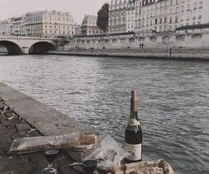 wine, food, and picnic image