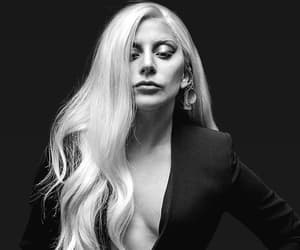 Lady gaga and black and white image