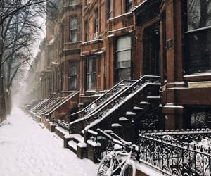 architecture, new york, and snow image