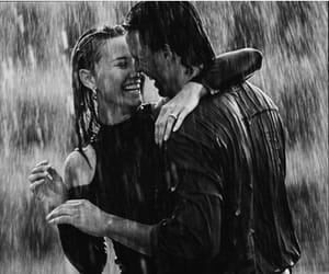 rain and couple image