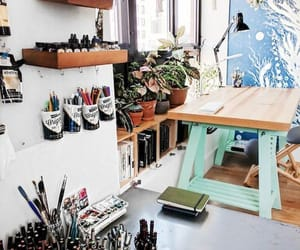 artsy, craft room, and inspiration image