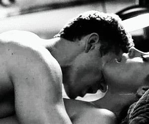 black and white, hot kiss, and hot kiss gif image