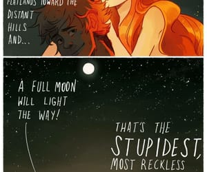 couple, cute, and full moon image