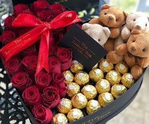 bears, chocolate, and present image