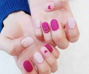 nails, unhas, and pink image