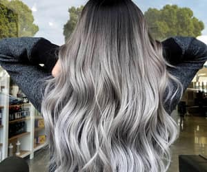 grey hair and silver hair image