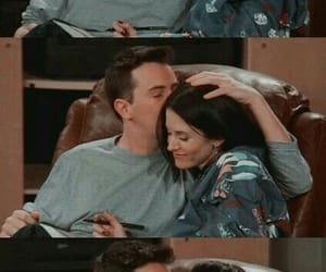 chandler bing, monica geller, and tv show image
