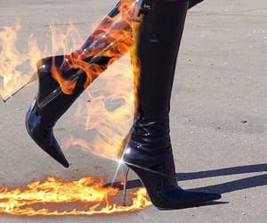 fire, boots, and heels image