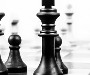 black and white, Queen, and chess game image