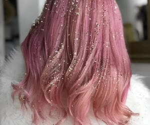 glitter, hair, and pink image