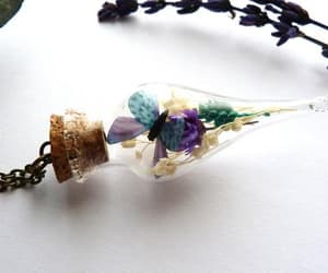 dried flowers, etsy, and pendant image