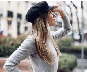 cap, girl, and parque image
