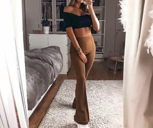 chic, fashion, and pants image