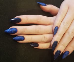 blu, blue, and gelnails image
