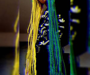 box braids, braids, and green braids image
