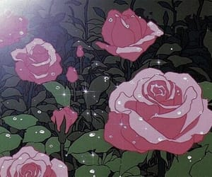 anime, バラ, and rose image