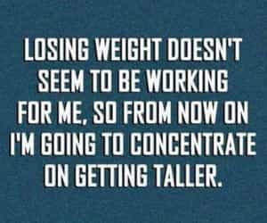 funny, quotes, and losing weight image