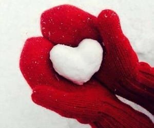 gloves, heart, and heart shaped image