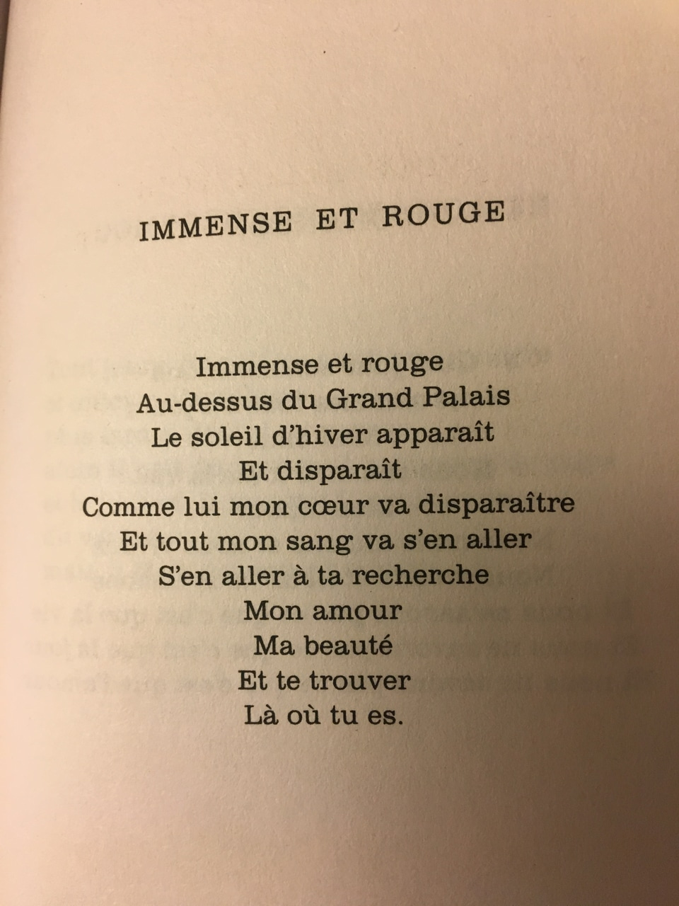 Poème De Jacques Prévert Immense Et Rouge
