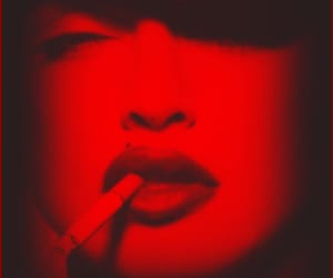 madonna, red, and red aesthetic image