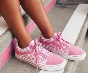shoes, pink, and vans image