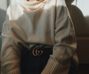 cold, turtle neck, and gucci image