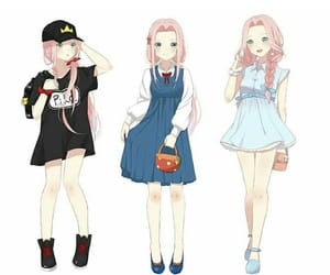 anime, girl, and sakura haruno image