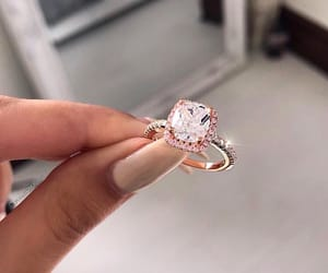 beauty, ring, and pink image