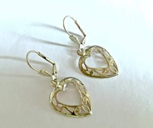 sterling silver, open heart earrings, and valentines day gifts image