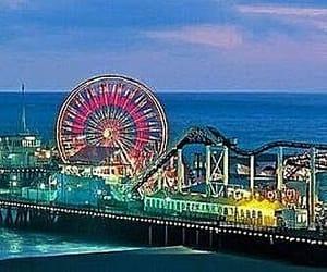 amusement park, ferris wheel, and usa image