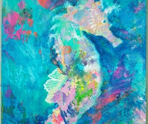 art and seahorse image